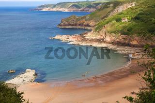 Strand bei Greve de Lecq, Jersey, UK