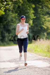 Attraktive Frau bei joggen
