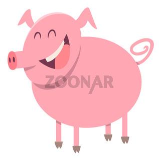 pig farm animal character