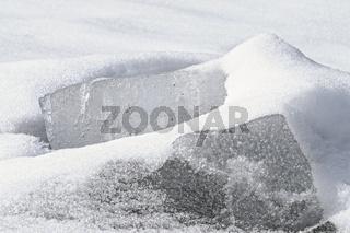 Eis und Schnee schwarz-weiss
