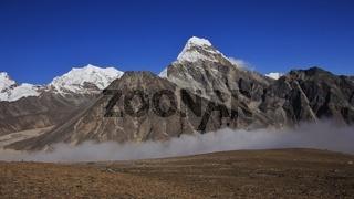 Autumn scene in the Gokyo valley, Nepal.
