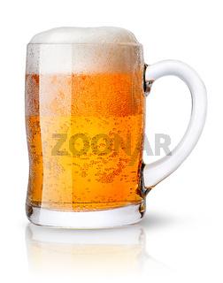 Mug of light beer