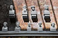 Büstengruppe in der Walhalla, Donautal, Bayern, Deutschland