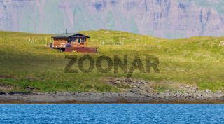 Single house on an small island - Iceland