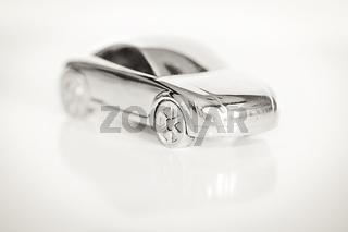 Modellauto isoliert auf weißem Hintergrund