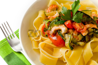 Pasta with Zucchini and Shrimps 2