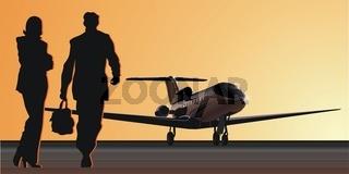Flugzeuge auf Startbahn