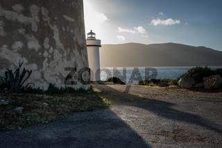 Leuchtturm am Capo Monti bei Alghero, Sardinien