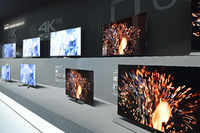 Flachbildschirme der Firma Panasonic auf der Internationalen Fun