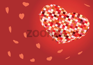 Valentine card disco ball