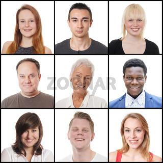 9 Männer und Frauen zwischen 18 und 65 Jahren