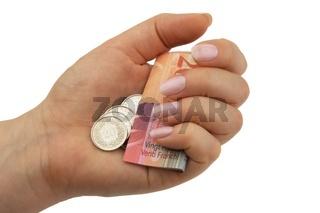 Geld festhalten und sparen