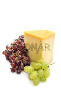 Gouda und Weintrauben