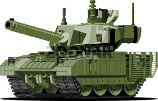 Cartoon modern armored tank