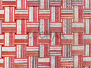 Red,white and black plastic woven