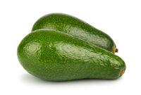 Pair of green avocado