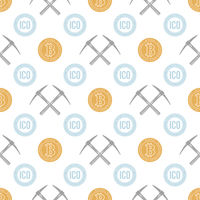 crypto currency blockchain seamless pattern