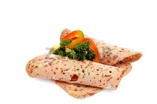 Fleischkäse mit Paprika
