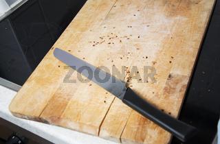 Brotmesser mit Brett