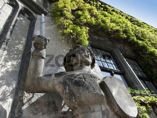 Der Schutzpatron Roland am Rathaus zu Quedlinburg