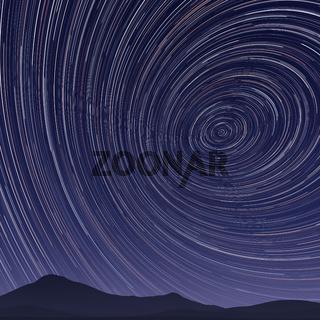 star trails night