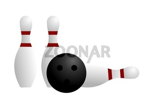 Illustration ball and pin of bowling