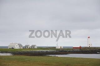 Leuchtturm Kjölnesfyr in Nord-Norwegen