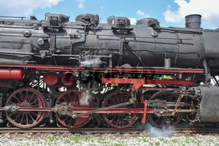 Dampflokomotive im Schwaebischen Wald, Deutschland