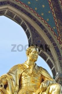 Prince Albert Gold statue