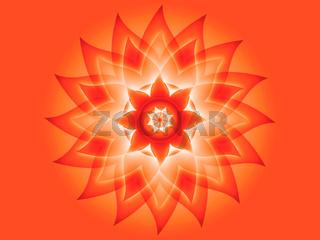 Blüten Mandala Rot