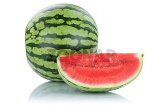 Wassermelone frische Früchte Frucht Obst Sommer Freisteller freigestellt isoliert