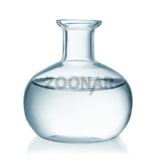 Front view of glass bottle