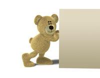 Nhi Bear pushing a Wall
