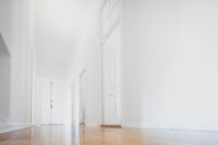 white apartment , empty room newly renovated - interior