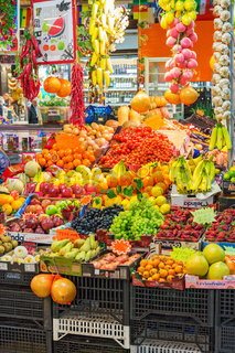 Fruit Market with fruits and vegetables