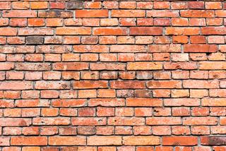 Hintergrund aus einer alten roten Backsteinwand