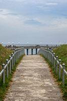 Weg zum Strand in Binz