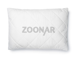 Top view of white cotton pillow