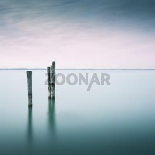 Dalben im Gardasee, Langzeitbelichtung