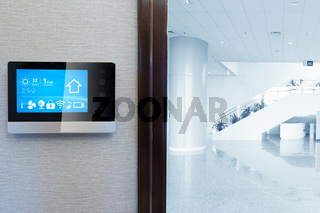 smart screen with smart home with modern center hall