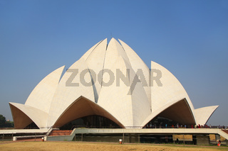 Lotus temple in New Delhi, India