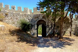 Gate to Moorish Castle in Portugal