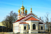 Church with gilded domes.
