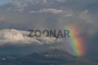 Regenbogen, Sarek Nationalpark, Welterbe Laponia, Lappland, Schweden