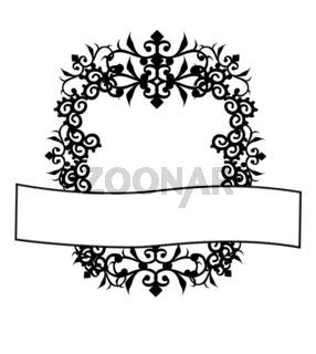 Wappen schwarz weiß