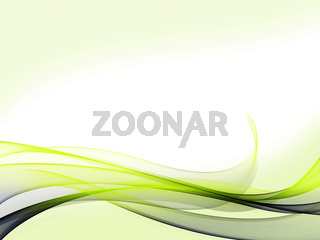 A set of blue/green gradient dynamic waves and lines with light green background on bottom and top