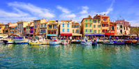 Cassis old town port promenade, Provence, France