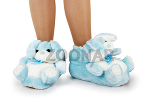 Blue house slippers