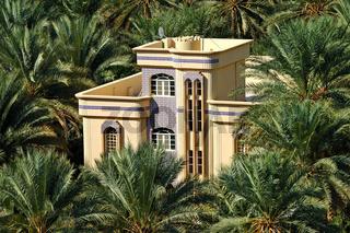Haus in der Oase Birkat al Mawz, Oman