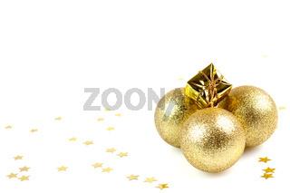 goldene Weihnachtskugeln/ golden christmas balls